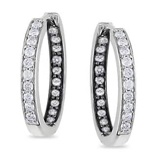 Miadora Sterling Silver 1/2ct TDW Diamond Hoop Earrings https://ak1.ostkcdn.com/images/products/8314459/8314459/Miadora-Sterling-Silver-1-2ct-TDW-Diamond-Hoop-Earrings-I-J-I2-I3-P15629630.jpg?impolicy=medium