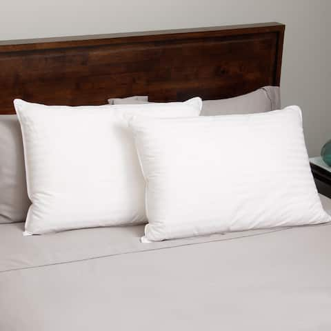 Hotel Madison 400 Thread Count Down Alternative Pillow (Set of 2) - White