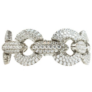 Michael Valitutti Sterling Silver Pave-set Cubic Zirconia Bracelet