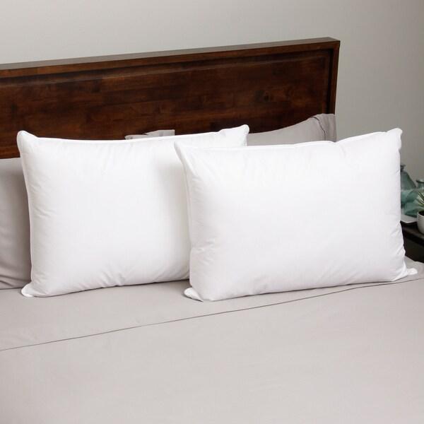 Hotel Madison Twill 300 Thread Count Gel Memory Fiber Pillow (Set of 2)
