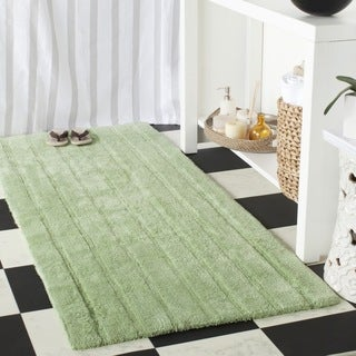 Safavieh Light Green Spa Stripe Reversible Bath Mat (2' 6 x 6')