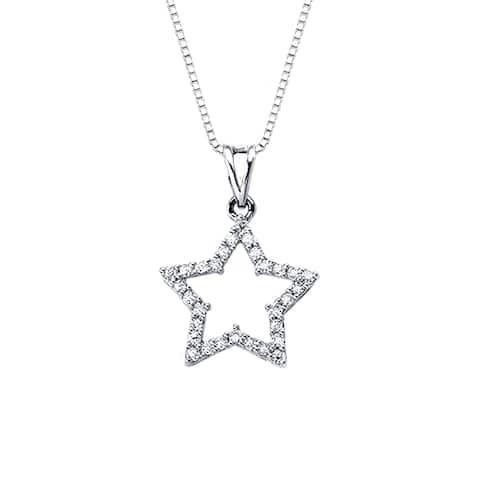 Auriya Star Shaped 1/4ct TDW Diamond Necklace 14k Gold