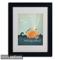 Megan Romo 'James and the Giant Peach' Framed Matted Art