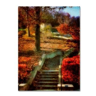 Lois Bryan 'Autumn Stairway' Canvas Art