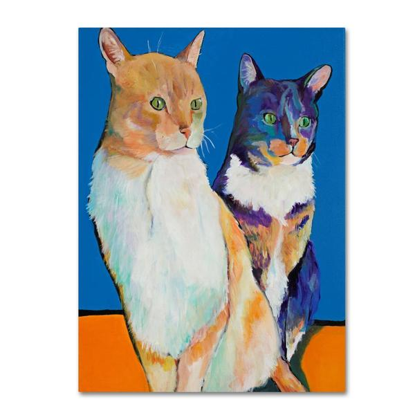 Pat Saunders 'Dos Amores' Canvas Art