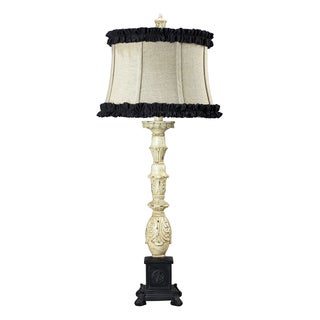 Dimond Lighting 1-Light Table Lamp in Antique White and Matte Black Finish