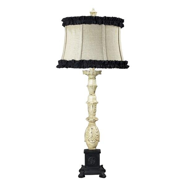 dimond lighting 1 light table lamp in antique white and matte black. Black Bedroom Furniture Sets. Home Design Ideas