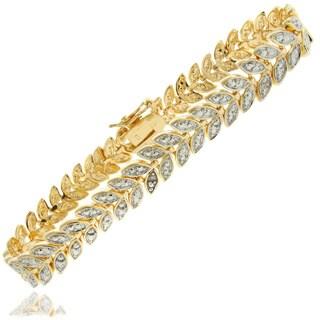 Pretty Plus 18k Gold Overlay Diamond Accent Leaf Link Bracelet|https://ak1.ostkcdn.com/images/products/8316057/8316057/Pretty-Plus-18k-Gold-Overlay-Diamond-Accent-Leaf-Link-Bracelet-P15630781.jpg?_ostk_perf_=percv&impolicy=medium