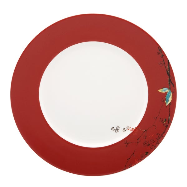 Lenox Chirp Scarlet Dinner Plate