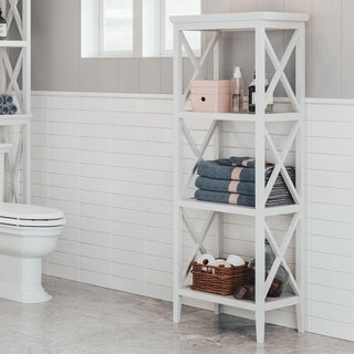 RiverRidge Home X-frame Bathroom Towel Tower