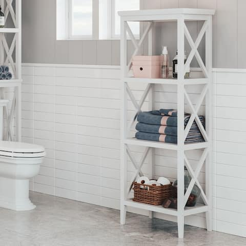 RiverRidge X-Frame Bathroom Towel Tower