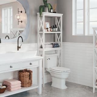 shelves for bathroom. RiverRidge Home X frame Bathroom Spacesaver Organization  Shelving For Less Overstock com