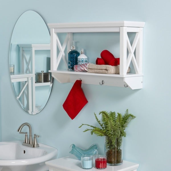 Shop Riverridge Home X Frame Bathroom Wall Shelf Free