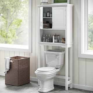 riverridge home somerset white space saver cabinet - Bathroom Cabinets Space Saver