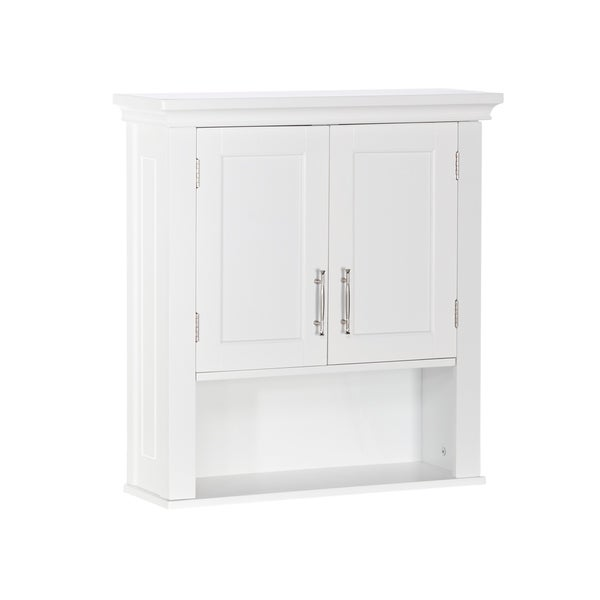 RiverRidge Somerset Collection Two-Door Wall Cabinet, White - N/A
