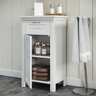 RiverRidge Somerset Collection Single Door Floor Cabinet, White