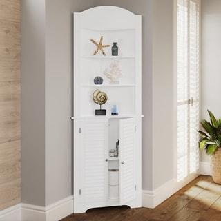 bathroom storage tall cabinet. riverridge home ellsworth tall corner etagere bathroom storage cabinet