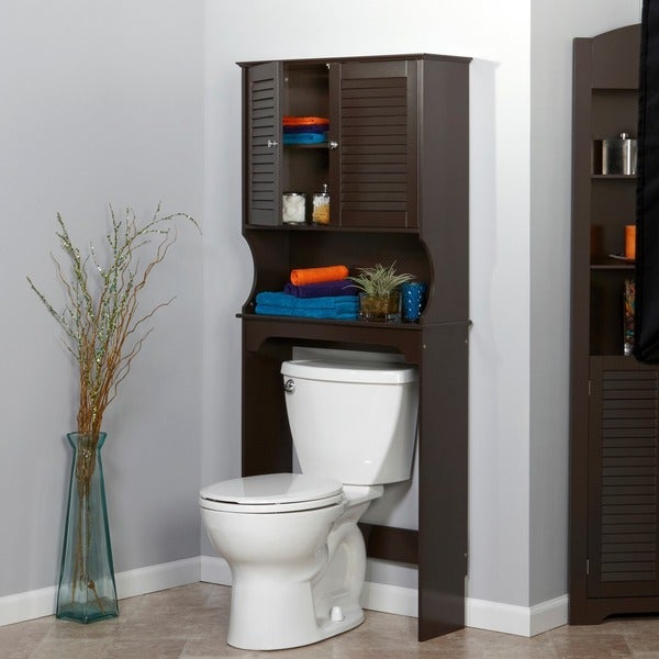 Bathroom Hutch riverridge home ellsworth spacesaver cabinet hutch - free shipping