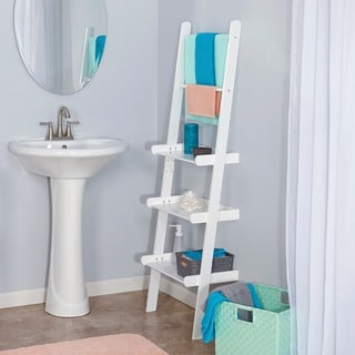 RiverRidge Home Ladder Shelf with Towel Bars