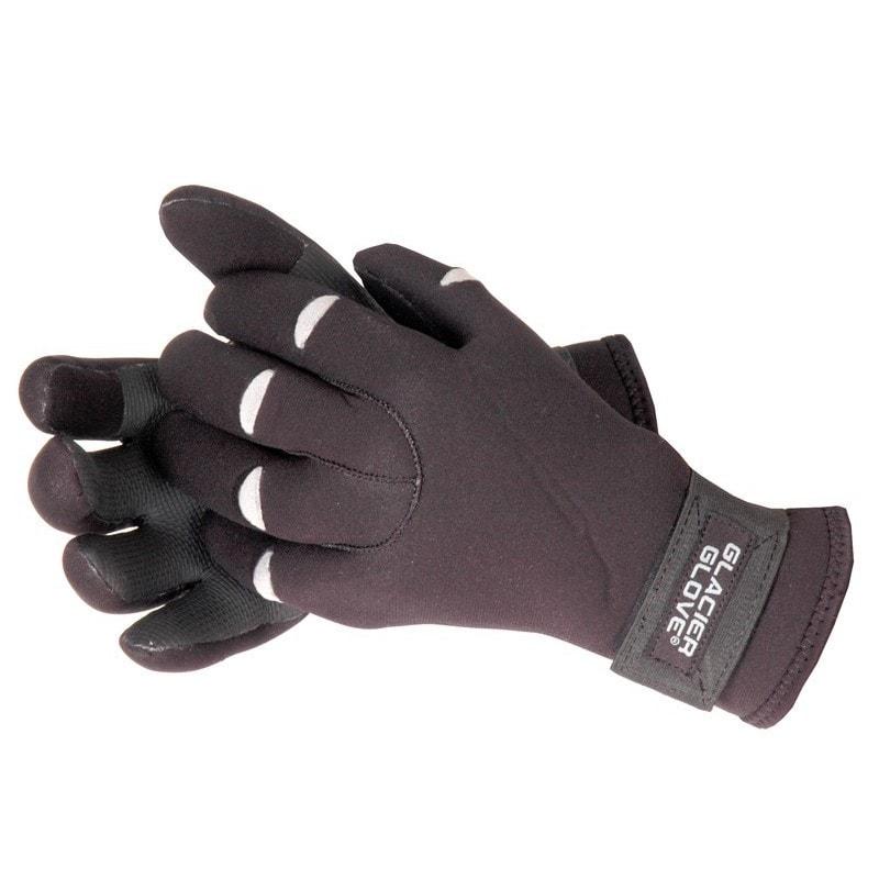 Glacier Glove Bristol Bay Fleece Lined Glove Black (Large)