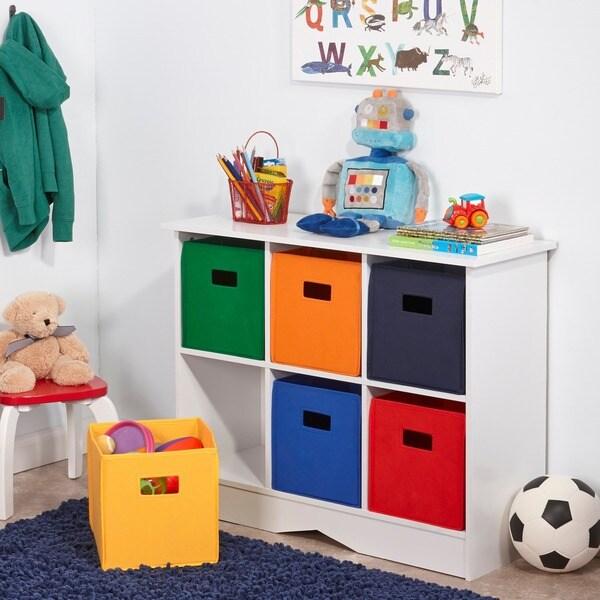 RiverRidge Kids White 6-bin Bookcase Cabinet