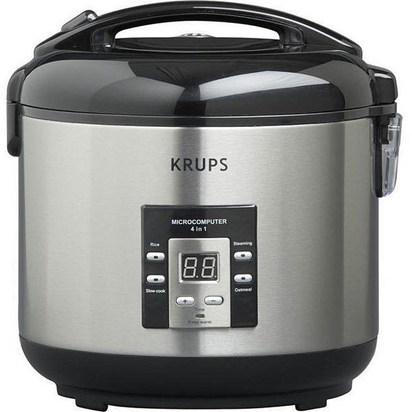 Krups RK7011 Silver and Black 10-cup 4-in-1 Cooker