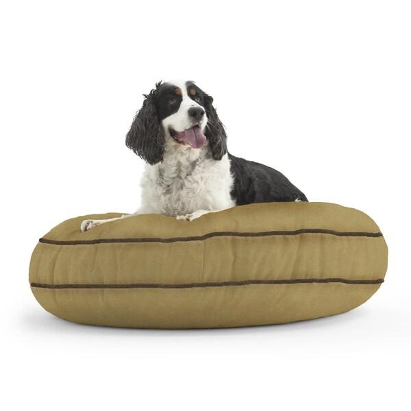 Shop Dogsack Round Memory Foam Tan Microsuede Pet Bed