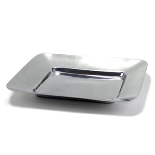 Alum Square Wide Border Tray