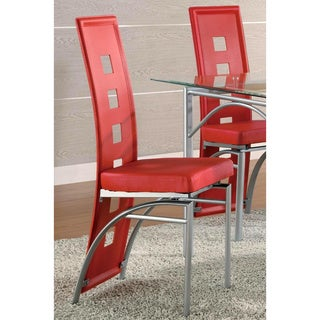 Dafny Chic Chrome Dining Chairs (Set of 2)