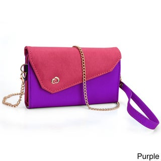 """Kroo Clutch Wallet with Wristlet and Shoulder Straps for Smartphone up to 5.5"""""""