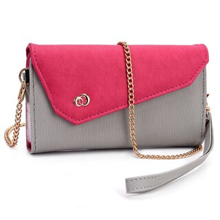 "Kroo Clutch Wallet with Wristlet and Shoulder Straps for Smartphone up to 5.5"" (More options available)"