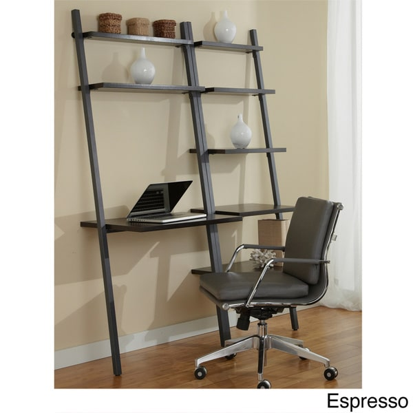Jesper Office Ladder Desk with Bookcase