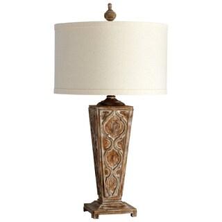 Nadja Aged Wood Table Lamp