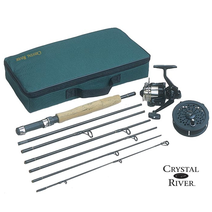 Crystal River 7' Spin/Fly Executive Travel Pack, Silver