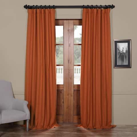 Exclusive Fabrics Persimmon Bellino Blackout Curtain Panel