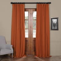 Exclusive Fabrics Persimmon Bellino Blackout Curtain Panel