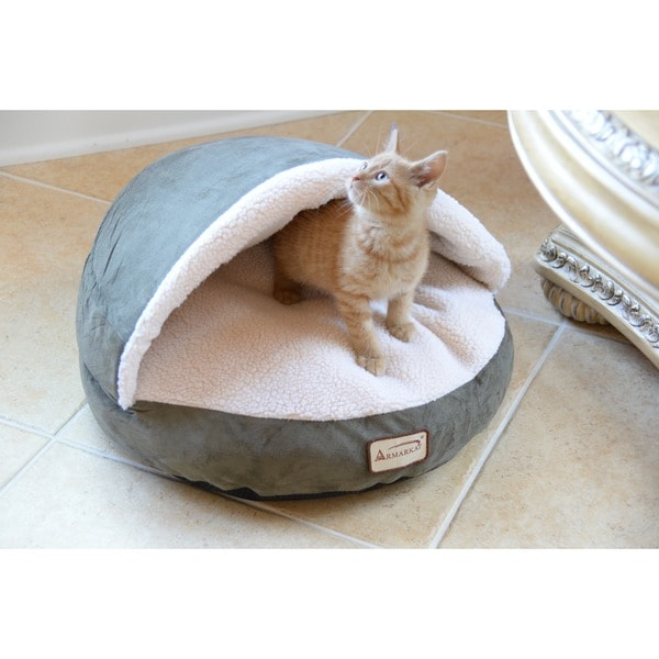 Shop Armarkat Faux Suede Halo Cat Bed Free Shipping On