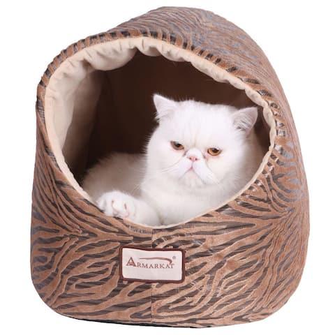 Armarkat Zebra Pring Halo Cat Bed - Small