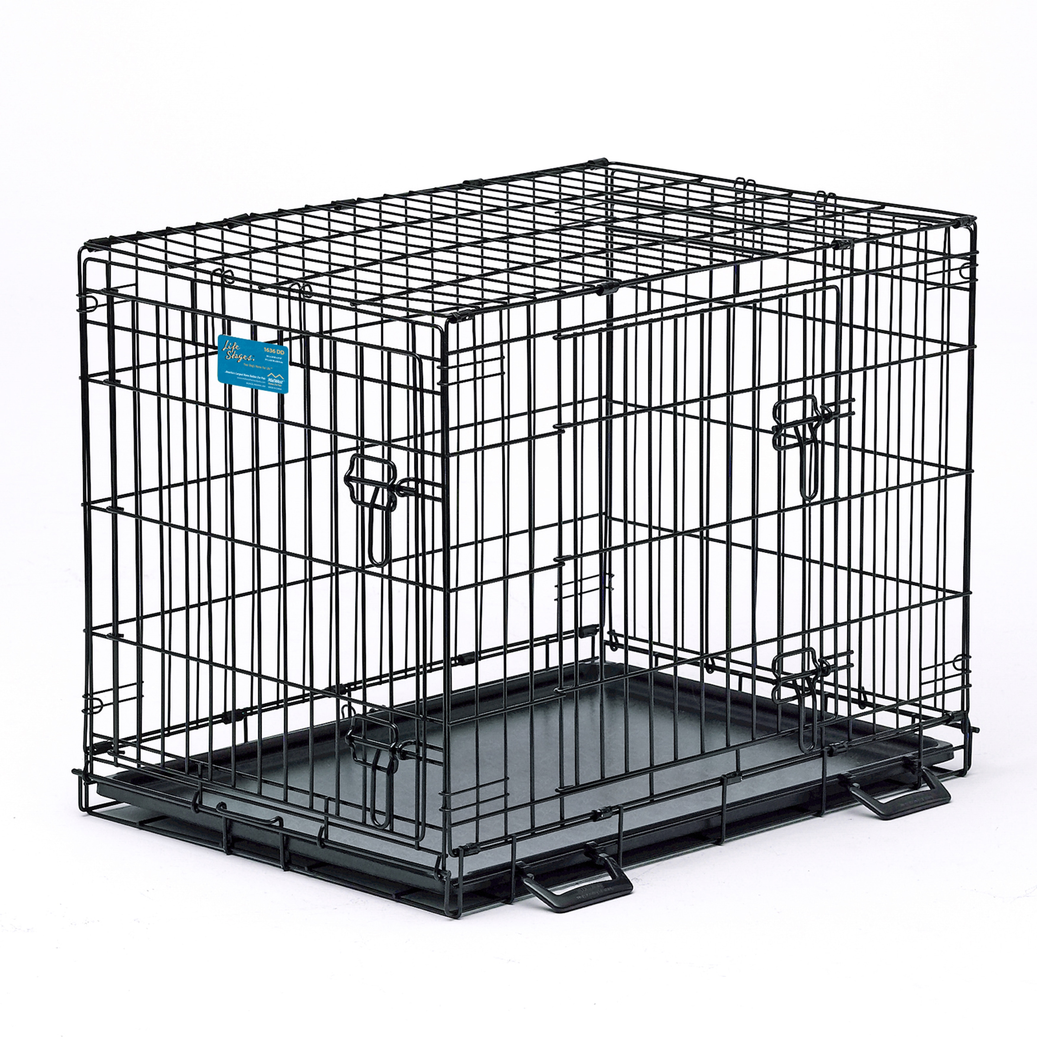 Midwest Life Stages Double Door Folding Metal Dog Crate (...