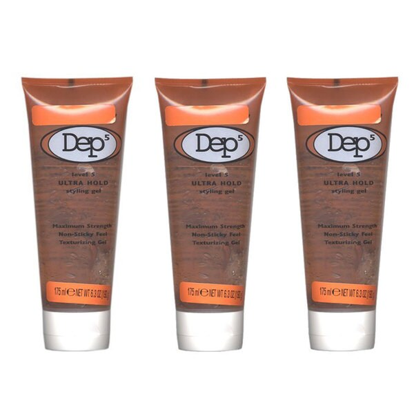Dep5 Ultra Hold 6.3-ounce Styling Gel Maximum Strength (Pack of 3)
