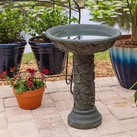 "Olivia 22"" Outdoor Bird Bath - Bronze Patina"