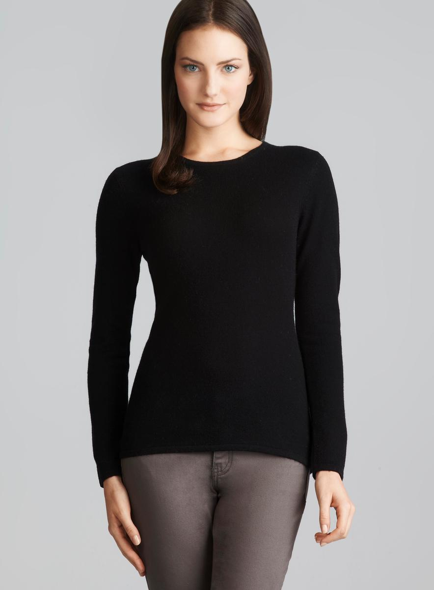 8650f3d2d34 Shop Evelyn Cashmere Black Long Sleeve Petite Cashmere Sweater - Free  Shipping Today - Overstock - 8316811