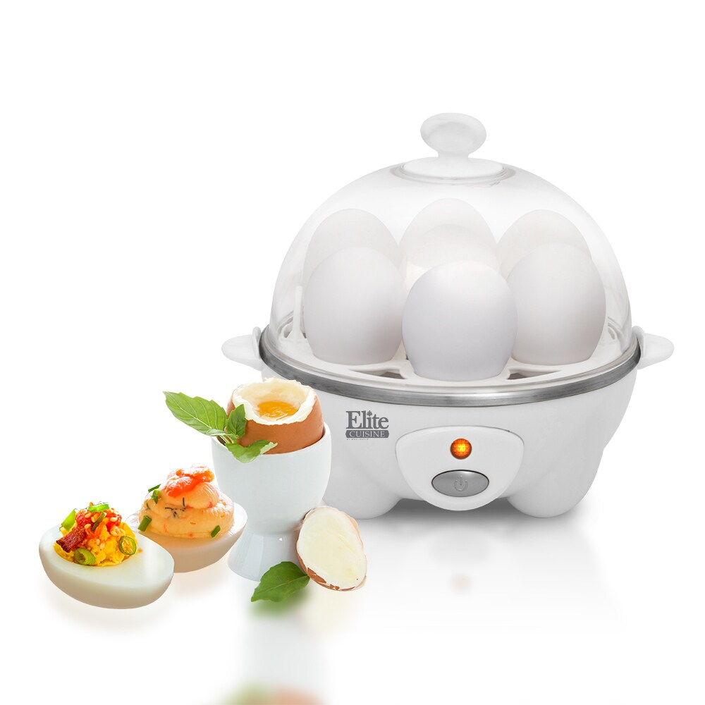 Maxi-Matic Elite Cuisine EGC-007 Egg Cooker, White