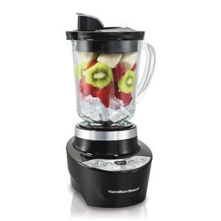 Hamilton Beach Black Smoothie Smart Glass Jar Blender