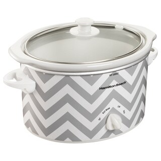 Hamilton Beach Chevron Pattern 3 Quart Slow Cooker