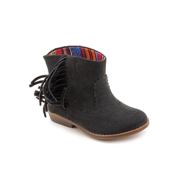 Mini Mia Girl (Toddler) 'Lil Blake' Fabric Boots in Black - Free ...