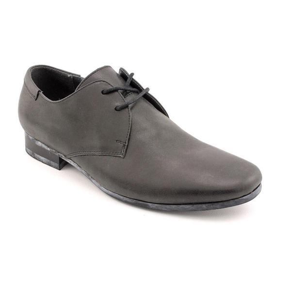 Steve Madden Men's 'Gorrdon' Black Leather Dress Shoes