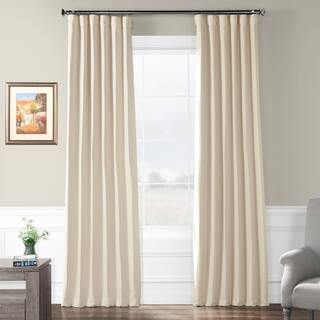 Exclusive Fabrics Cottage Off-White Bellino Single Panel Blackout Curtain|https://ak1.ostkcdn.com/images/products/8321089/P15635263.jpg?impolicy=medium