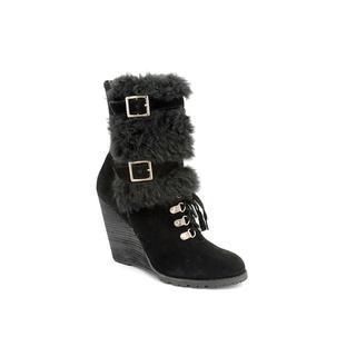 Carlos Santana Women's 'Fabulous' Black Regular Suede Boots