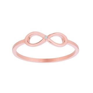 14k Rose Gold Diamond Accent Infinity Symbol Ring